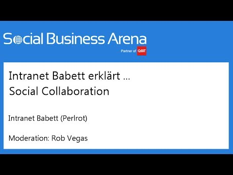 #cebitsba 2014 | Intranet Babett erklärt ... Social Collaboration