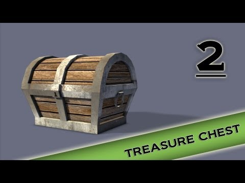 Autodesk Maya 2013 Tutorial - Treasure Chest Modeling, Texturing, lighting Part 2