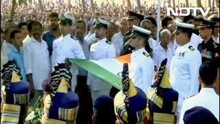 गोवा के मुख्यमंत्री मनोहर पर्रिकर को अंतिम विदाई - NDTVINDIA