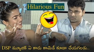 DSP Making Hilarious funny comments on rashmika mandanna | Sarileru Neekevvaru Team Interview - TFPC