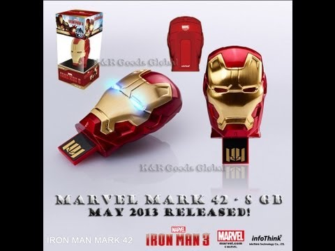 IRON MAN 3 - Mark 42 USB FLASH DRIVE 8GB/16GB