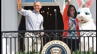 بالفيديو والصور.. «أوباما وزوجته» يحتفلان بعيد الفصح