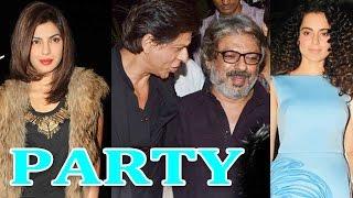 Shahrukh Khan, Priyanka Chopra at Sanjay Leela Bhansali's party | SPOTTED - ZOOMDEKHO
