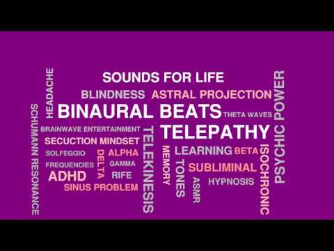 Theta Binaural Beats Telepathy Sounds | Astral Projection Increase Psychic Ability