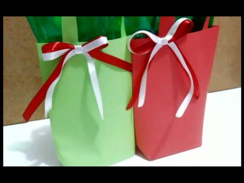 Sacola de papel para presentes (especial de Natal)