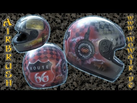 No.051  Airbrush by Wow  Helm Route 66.mp4