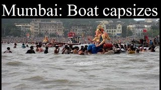 Mumbai: Boat capsizes near Girgoan Chupati during Lalbaug Raja Ganesh immersion - NEWSXLIVE
