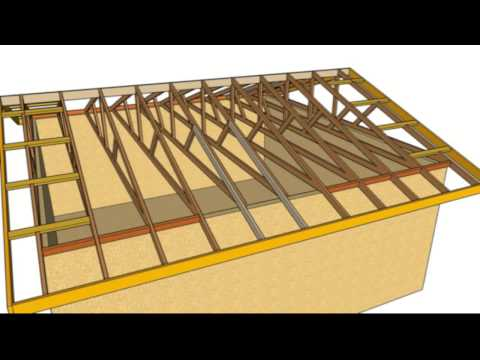 How To Fix Sagging Roof Overhang - Nailing New Rafters Next to Truss