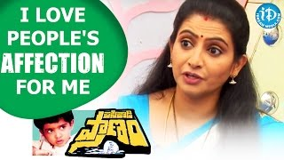 I Love People's Affection For Me - Sujitha || Talking Movies with iDream - IDREAMMOVIES