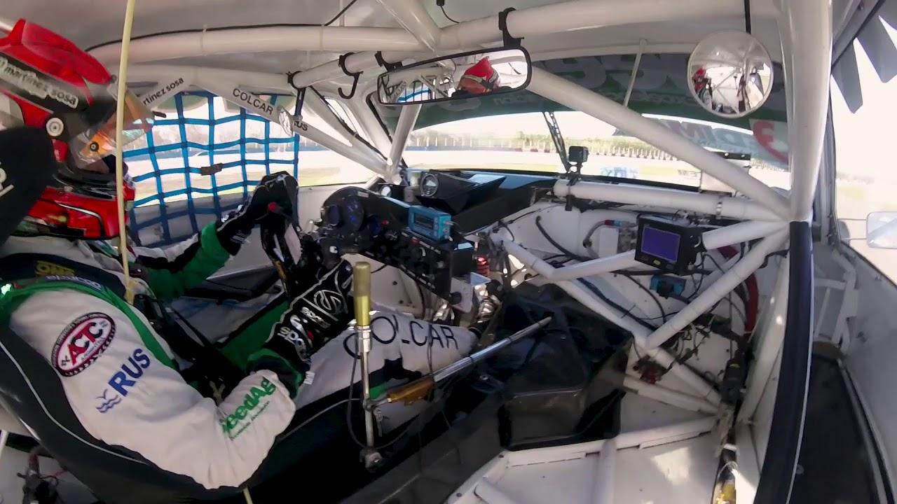 A bordo de la Chevy en el Circuito 12