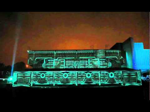 The HP ePrint Tron Legacy Experience at Queen Elizabeth Hall, London - Full Projection