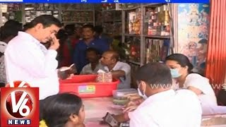 Fire accident in Cracker shop with lack of fire safety equipments - Hyderabad - V6NEWSTELUGU