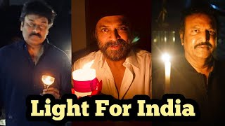 Tollywood Celebrities Participants In Light For India - TFPC