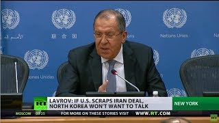 Iran nuclear deal collapse could spell grave consequences for the Korean peninsula – Lavrov - RUSSIATODAY