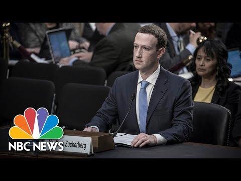 Przesłuchanie Marka Zuckerberga przez komisją senacką.