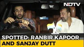Celeb Spotting! Alia Bhatt, Ranbir Kapoor & Sanjay Dutt - NDTV
