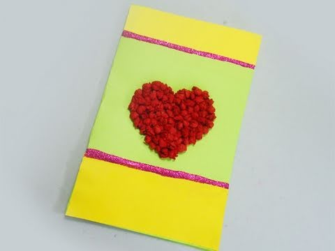 How to make a card with tissue paper