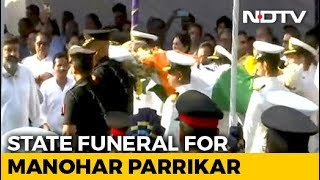 State Funeral For Manohar Parrikar, Thousands Join Procession - NDTV