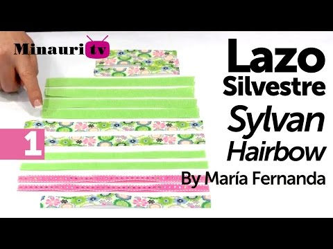 Lazo Silvestre Minauri Lazos Revista 6 (Parte 1 de 2) ( How to make ¨Silvestre¨ hair bows )