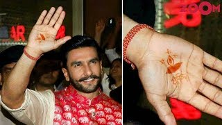 Ranveer Singh's Romantic gesture towards Deepika with Mehendi REVEALED | Bollywood News - ZOOMDEKHO