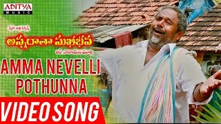 Amma Nevelli Pothunna Video Song | Annadata Sukhibhava Songs | R.Narayana Murthy - ADITYAMUSIC