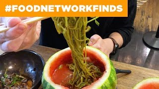 Watermelon RAMEN at Mokbar 🍉🍜 | Food Network - FOODNETWORKTV
