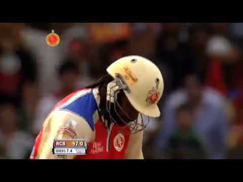 Chris Gayle-Fastest century in cricket history - IPL 2013 - RCB vs PW, Match 31