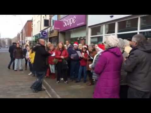 Flash Mob Carols - Barrow Town Centre (Video 1)