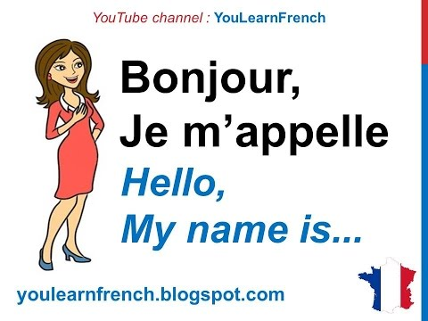 French Lesson 15 - Conversation basique (Introduce yourself in French basic conversation)