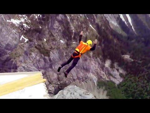 Incredible Mountain Shelter BASE Jump | 4 Swiss BASE Jumps