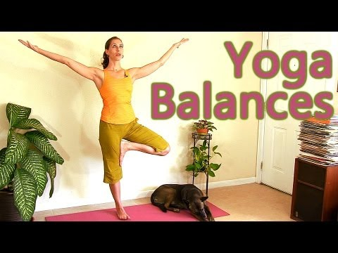 Beginners Yoga: Relaxing Balance Routine, Tree Pose | Mollie Psychetruth Austin ASMR