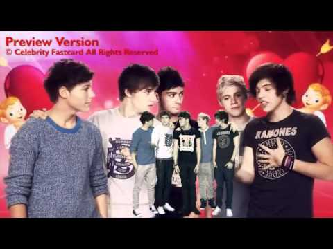 One Direction Celebrity Fast Card - Happy Valentine's Day 2