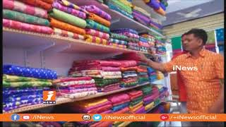 Pochampally Handloom Weavers Designed Bahhubali Pictures on Sarees | iNews - INEWS