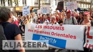 Thousands rally in Paris against Macron's labour reforms - ALJAZEERAENGLISH