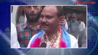 जीत का जश्न: लुधियाना: जांगपुर ब्लॉक समिति जीत के बाद कांग्रेस के प्रदीप लाम्बा