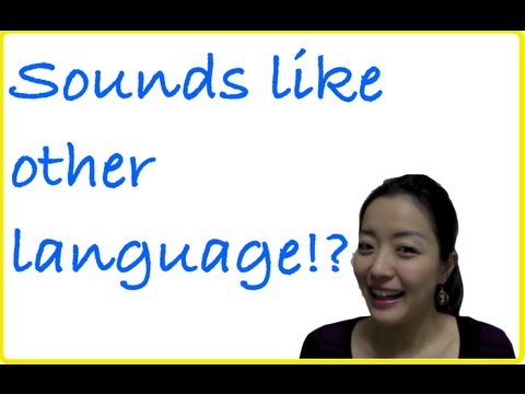 Japanese sounds like other languages ( English sounds like Japanese)