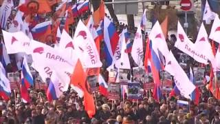 Thousands march in Moscow on second anniversary of Kremlin critic's murder - REUTERSVIDEO