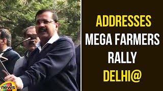 Arvind Kejriwal Addresses Mega Farmers' Rally At Delhi | Kejriwal Latest Speech | Mango News - MANGONEWS