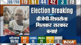 Advani bats for Shiv Sena-BJP reconciliation - INDIATV