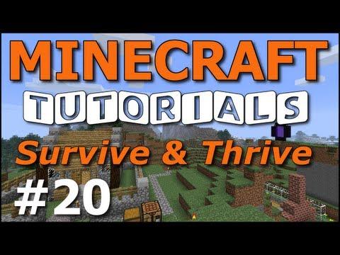 Minecraft Tutorials - E20 Pet Wolf (Survive and Thrive II)
