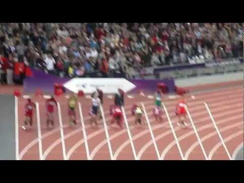 Paralympic Games London 2012 T44 mens 100m final 06/09/12