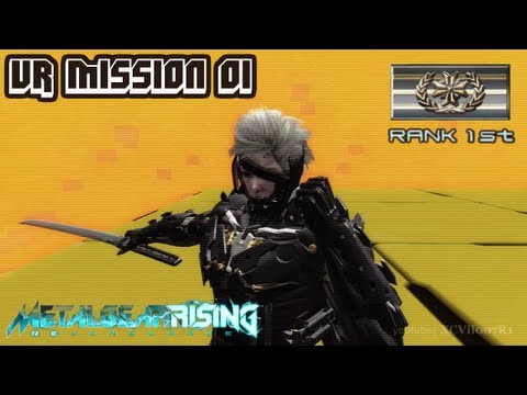 Metal Gear Rising: Revengeance - VR Mission 01 - Rank 1st (Gold) - Time: 00:39.75