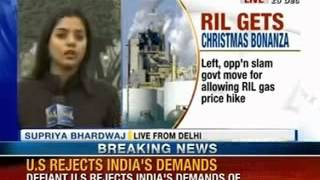NewsX: cabinet move to allow Reliance to double gas price - NEWSXLIVE