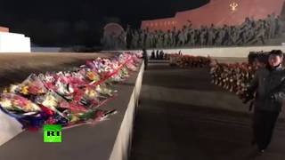 North Koreans pay tribute to Kim Jong-il on the 6th anniversary of his death - RUSSIATODAY