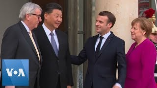 FRANCE/EU-CHINA-MEETING: Xi Meets with Macron, Merkel & Juncker - VOAVIDEO