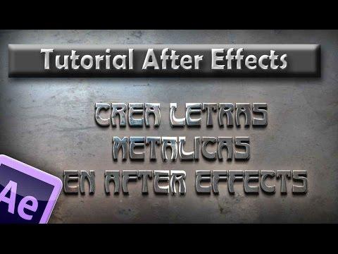 Tutorial AE : Letras metálicas en After effects