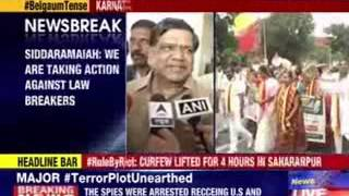 Karnataka's CM Siddaramaiah reacts on Belgaum unrest - NEWSXLIVE