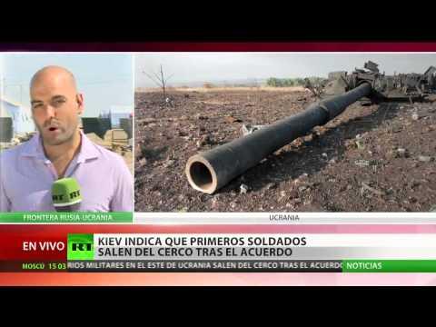 Kiev anuncia que los primeros soldados salen del cerco tras el acuerdo