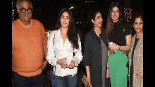 In Graphics: Sridevi and Family snapped post dinner in Bandra - ABPNEWSTV