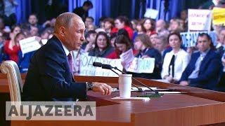 Syria, N Korea feature in annual Putin press conference - ALJAZEERAENGLISH